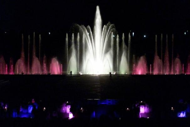 Foto del espectáculo de luces en el año 2001