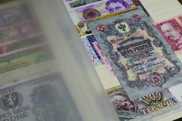 Los dibujos de papel moneda