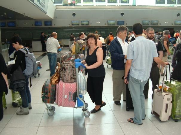 Camino al avión: empieza la aventura madrileña