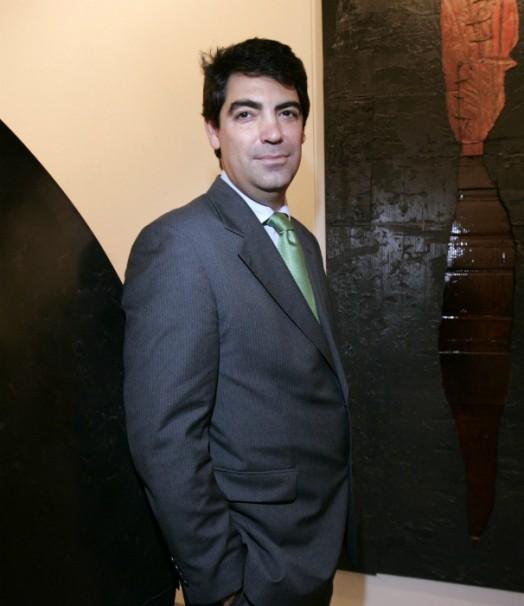El director de la galería, Álvaro Alcázar