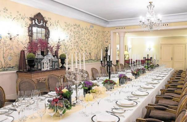 El salón decorado para la cena de Nochebuena en el Hotel Wellington. Foto: Hotel Wellington