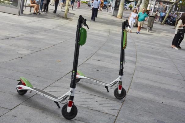 Madrid, 06/09/2018. Patinetes eléctricos de alquiler por minutos de la empresa Lime. Foto: Guillermo Navarro ARCHDC
