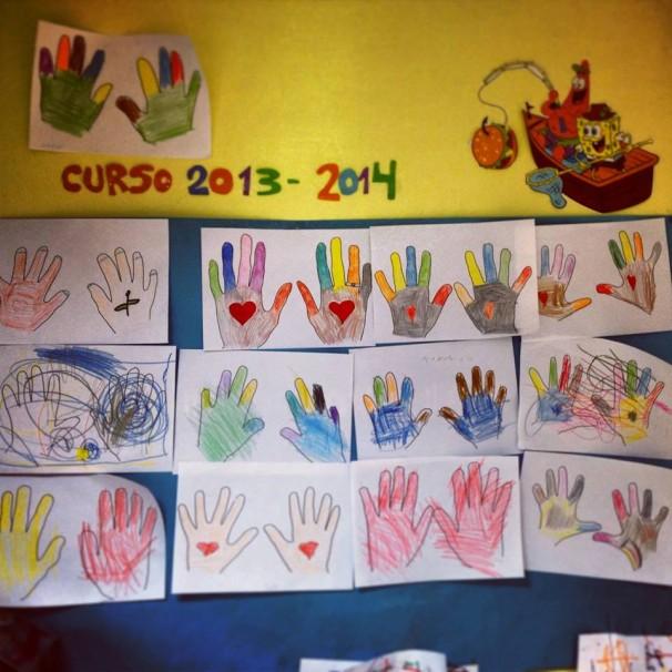 Dibujos realizados por niños con diversidad funcional. Foto: Adactiv