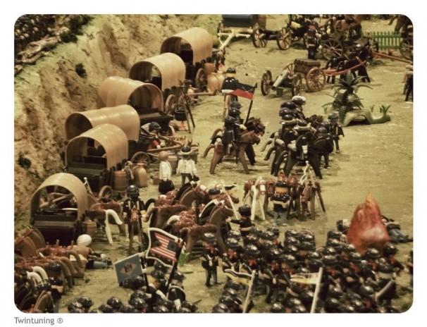 Representación Playmobil Guerra de sucesión