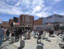 Acto que se celebró el pasado 21 de marzo en la plaza del Ayuntamiento de Tres Cantos (Foto: Andrea Muñoz)
