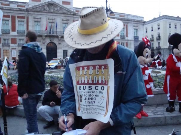 Antonio Iniesta en la Puerta del Sol