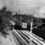 Vías del metro de batán, en 1968. Foto: ABC