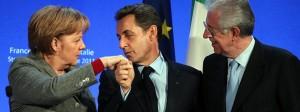 Merkel, Sarkozy y Monti en la minicumbre de Estrasburgo. Por ABC