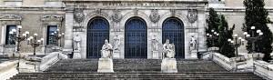 Fachada de la Biblioteca Nacional de España. Por ABC