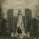 El esqueleto del edificio, durante 1950