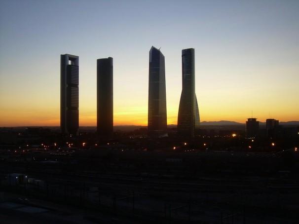 De izquierda a derecha, las torres Bankia, PwC, de Cristal y Espacio. Foto: C.C.O.