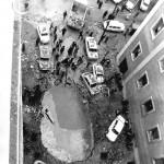 Aspecto de la calle Claudio Coello tras el atentado. Producción ABCD.