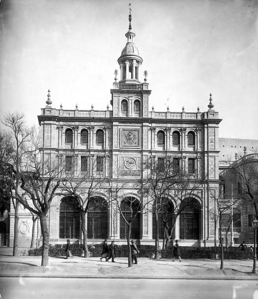 Fachada del edificio de ABC de Serrano, en 1930