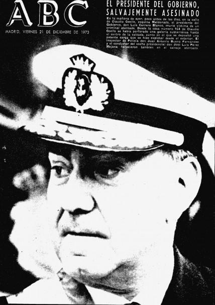La portada de ABC el día siguiente al asesinato de Carrero. Foto: ABC