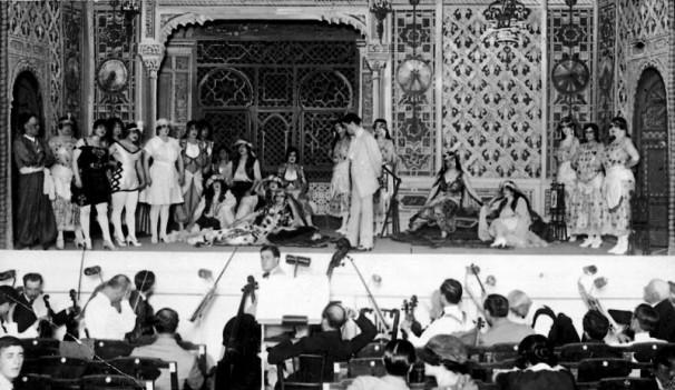 Una escena de la obra «Ramón del alma mía» en el Teatro La Latina en 1920/ Julio Duque