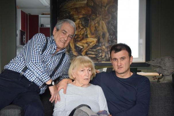 Txema Lorente, Maribel Tellaetxe y David Lorente. Fotos: M. Lozano