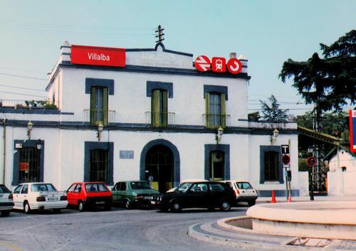 Antigua fachada de la Estación de Villalba. Foto: Archivos de la Comunidad de Madrid