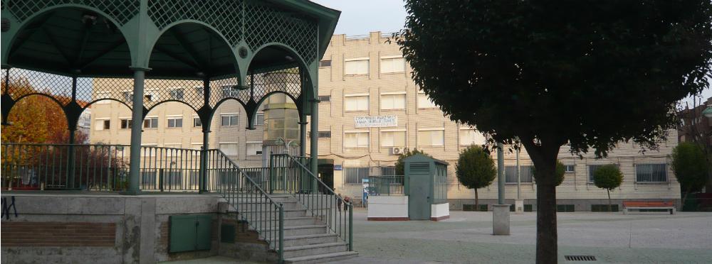 La Escuela de Música Manuel Rodríguez Sales de Leganés, en la plaza de Pablo Casals