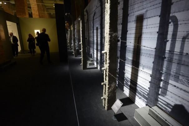 Exposición sobre Auschwitz. Foto: Maya Balanya