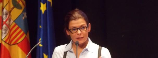 La periodista Giannina Segnini en un momento de su intervención. Foto: F. D-I.