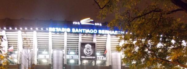 Fachada principal del estadio Santiago Bernabéu
