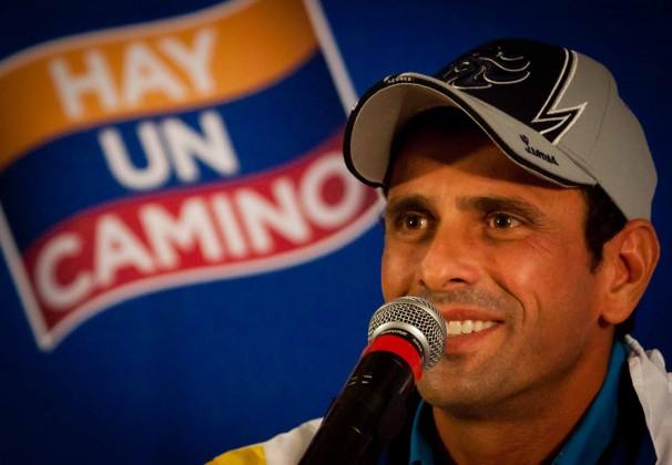 Henrique Capriles, candidato de la Mesa de Unidad Democrática, representa la esperanza de cambio