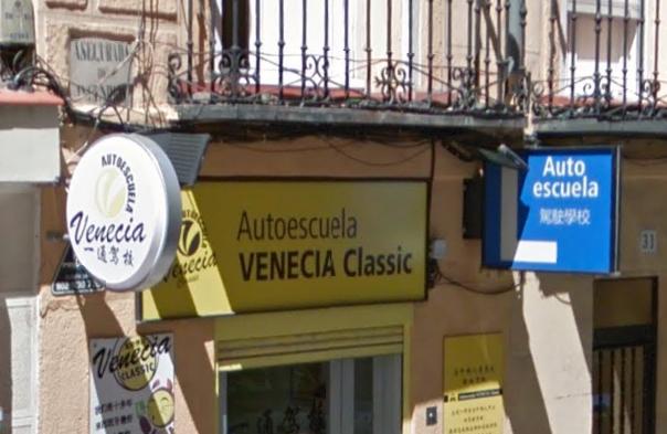 Autoescuela en la calle Leganitos
