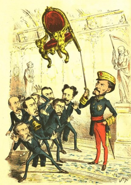 Caricatura - La Flaca - 25 de diciembre de 1870 (n.68) - ARXIU DE REVISTES
