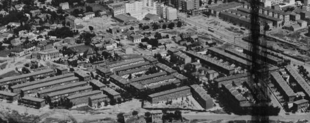 Vista aérea de la Colonia San Vicente, a mediados del siglo pasado. Foto: Comunidad de Madrid