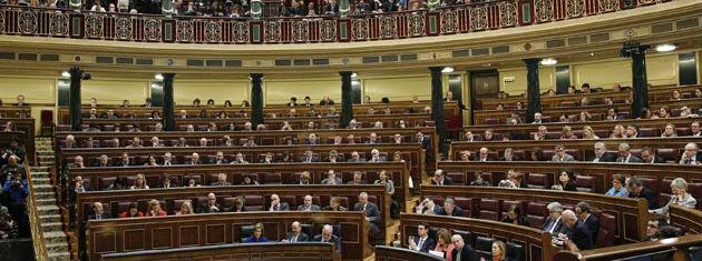 Imagen del interior del Congreso de los Diputados