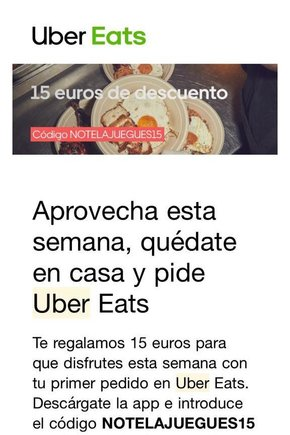 «No te la juegues», publicidad de Uber Eats
