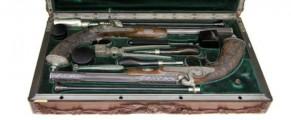 Las pistolas de duelo de Enrique de Borbón. Foto: Turismocastillalamancha.com