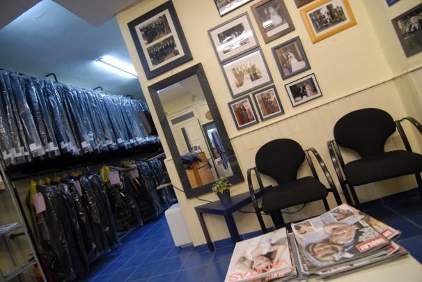 Interior de la tienda de la calle Ayala, Chaqué Madrid