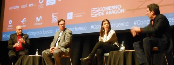 Debate sobre el futuro el periodismo con Ricardo Corredor, Emilio Crespo y Gianina Segnini