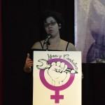 Ana García en el II Encuentro estatal de Libres y Combativas