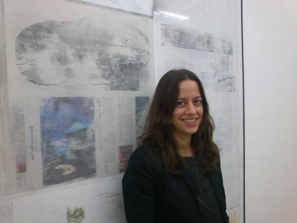 Belén Valbuena en su galería. Foto: C.C