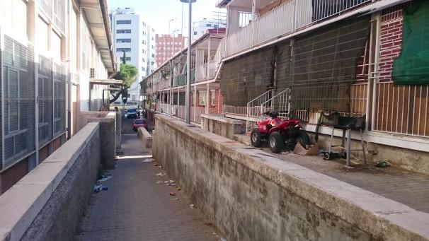Viviendas viejas del barrio de la UVA. Foto: Vega González