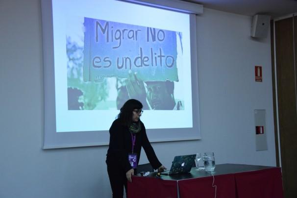 Eileen Truax: migrar es inherente al ser humano. Foto: María Lozano