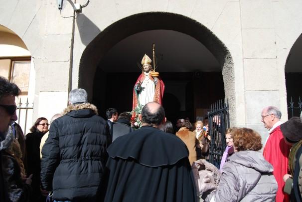 San Blas, entrando en la ermita