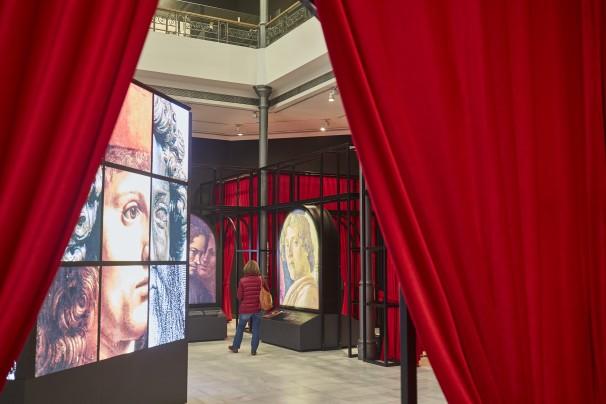 Exposición sobre la obra de Leonardo Da Vinci. Foto: Guillermo Navarro
