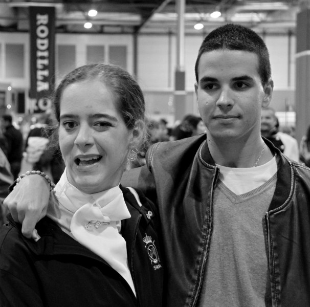 Natalia Quintana Plágaro y Alejandro Valcárcel, jinetes paraecuestres, en Madrid Horse Week. Foto: Quintana