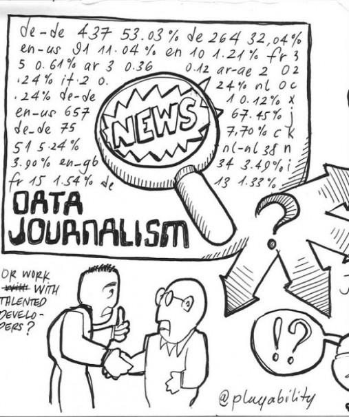 Viñeta sobre el periodismo de datos. Foto: Flickr