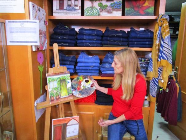 Julia, dueña de la tienda Menta, situada en el Barrio del Pilar