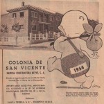 Folleto de publicidad de 1956 de la Colonia San Vicente.