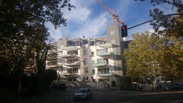 Construcción de las viviendas de Calanda Homes. Foto: Mario López