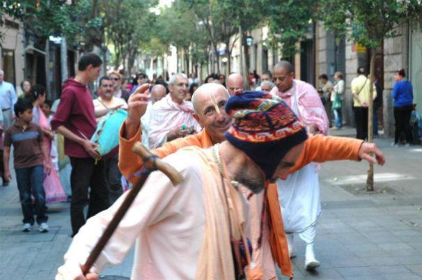 Hare Krishnas en Fuencarral. Foto: ISKCON MADRID