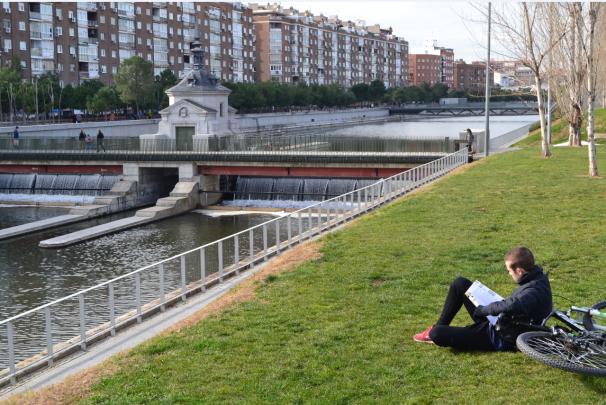 Madrid Río es un lugar perfecto para concentrarse y devorar libros. Foto: MJ