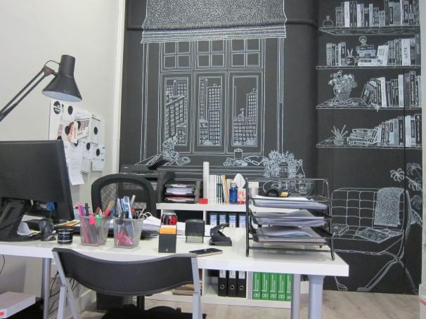 Imagen del despacho de Julia. Foto: Laura C.