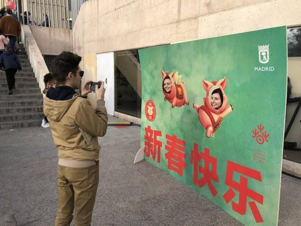 Un photocall en el que los asistentes se tematizaban para el Año Nuevo Chino. Fotos: M.C.