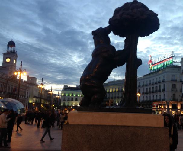 La Puerta del Sol rodeada con los elementos más representativos. Foto: C.Q.C.